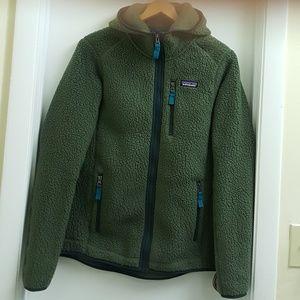😍Patagonia retro pile fleece hoodie size Medium